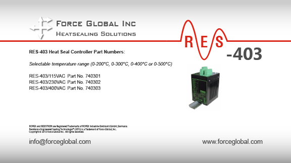 Force Global Ropex RES-403 Heatsealing Solutions